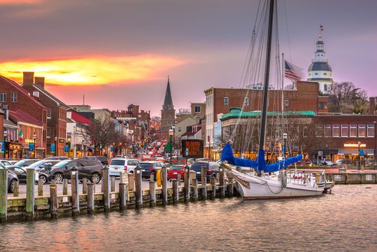 Annapolis, Maryland, USA from Annapolis Harbor
