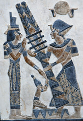 Egyptian picture on a stone board