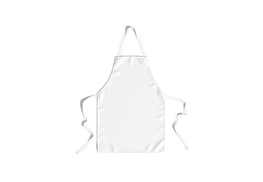Blank white apron with strap mockup, top view