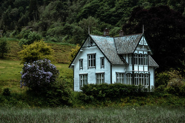 abandoned old Norwegian house Wall mural