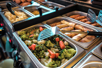 buffet with different meals