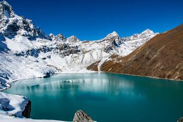 Papiers peints Bleu vert Reportage au Népal la Haute route de l'Everest