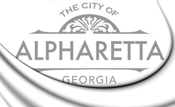 3D Emblem of Alpharetta (Georgia), USA. 3D Illustration.
