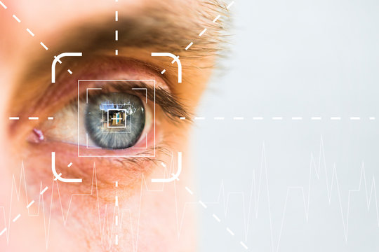Eye monitoring and treatment in virtual verification in healthcare.