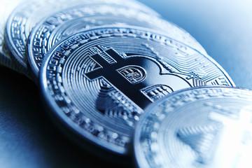 Close up Bitcoins