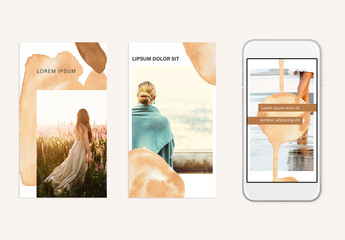Watercolor Social Stories Layout