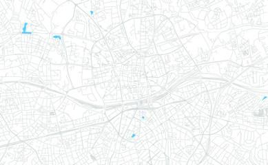 Essen, Germany bright vector map