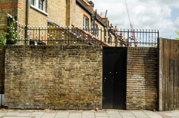 Unusual railings, Southwark, London