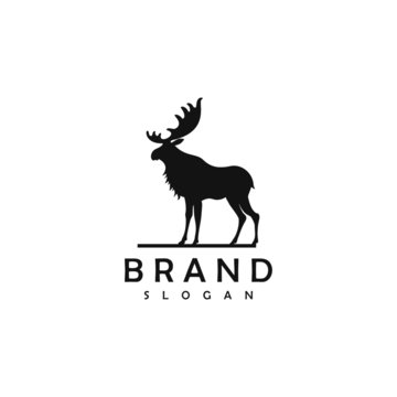 Moose Logo Template vector Illustration