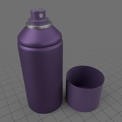 Open spray can