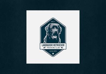 Vintage Logo Layout for Dog Center