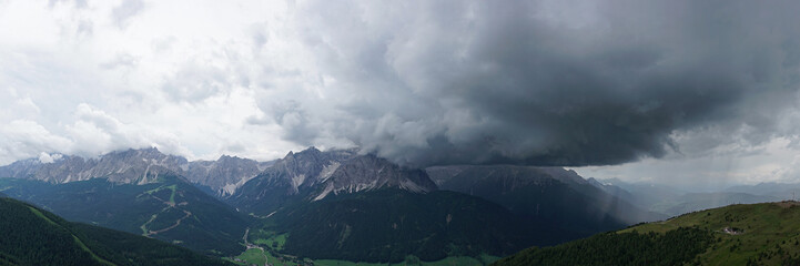 Storm in the Dolomites, South Tyrol