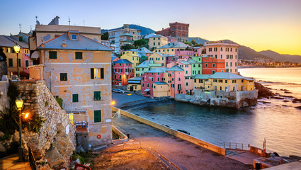 Boccadasse, an old neighbourhood of Genoa city, Italy