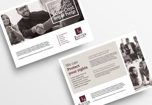 Flyer Layout with Sepia Elements