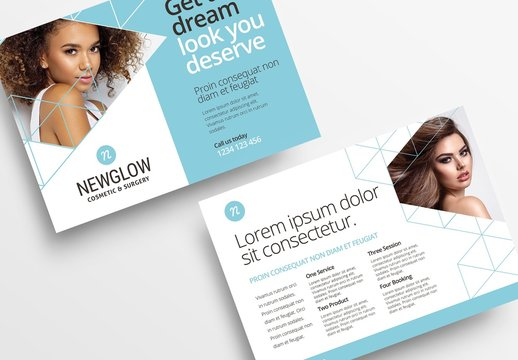 Light Blue and White Flyer Layout