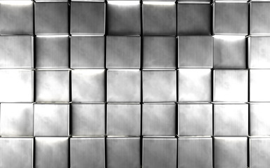 Abstract silver color background.Luxurious and elegant background with bright silver cubes or...