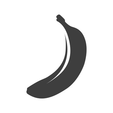Banana icon. Isolated vector on a white background