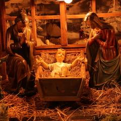 Traditionelle Krippe zur Weihnachtszeit