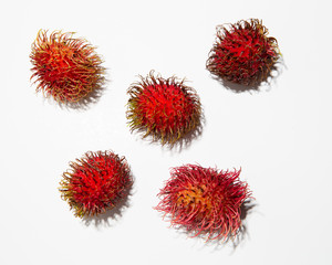 Rambutan on white 1