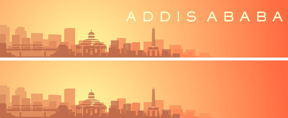 Addis Ababa Beautiful Skyline Scenery Banner Fotomurales