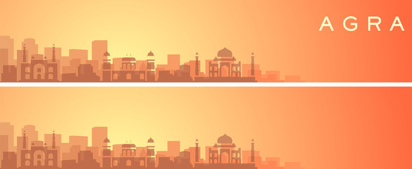 Agra Beautiful Skyline Scenery Banner Fototapete