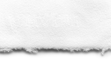 White Ripped Paper Edge over White with Soft Shadow