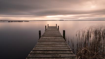 Fototapeten Lachs Steinhuder Meer bei Sonnenuntergang