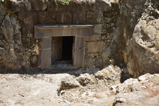 Cave of the Sidoneon head (of the Jewish Community) Bet She'arim National Park in Kiryat Tiv'on Israel