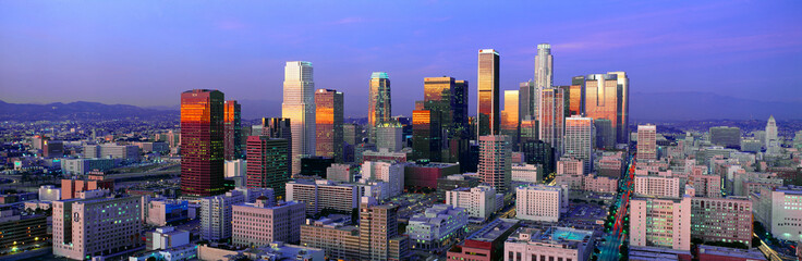 Skyline, Los Angeles, California Fotomurales