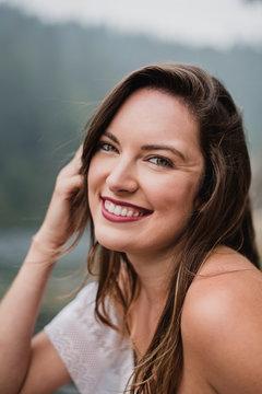 Portrait smiling, beautiful young woman