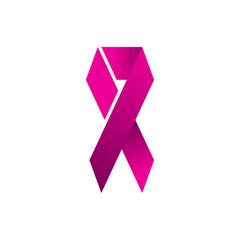 breast cancer awareness ribbon logo design templates