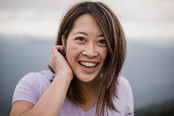 Portrait happy, confident young woman