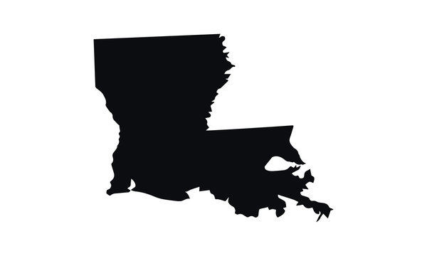 Louisiana State Black and White