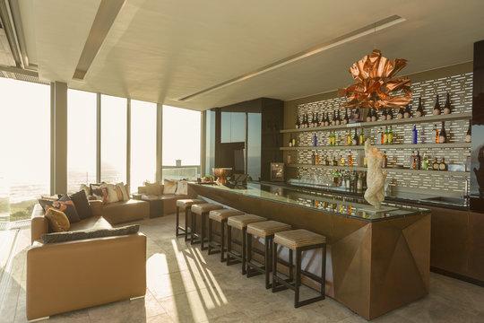 Modern luxury home showcase bar