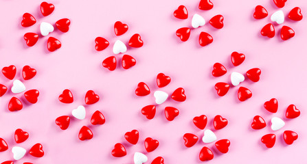 Sweet heart candy. Valentine's Day concept.