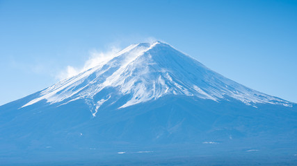 Wall Mural - Close up view of Mount Fuji in Yamanachi, Japan