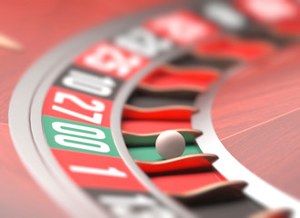 Roulette wheel, illustration