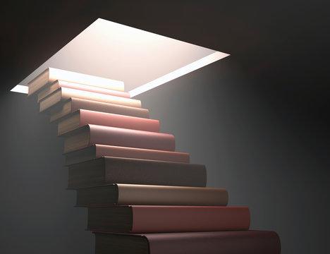 Books making steps, illustration