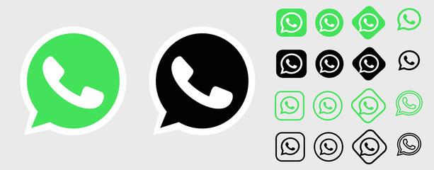 whatsapp logo.whatsapp button. whatsapp vector