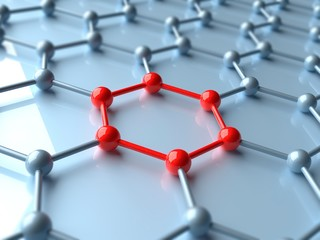 Artwork of a Graphene Sheet