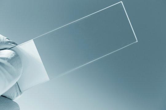 Empty microscope slide