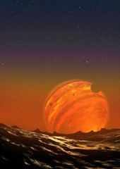 Illustration of a Free-Floating Planet