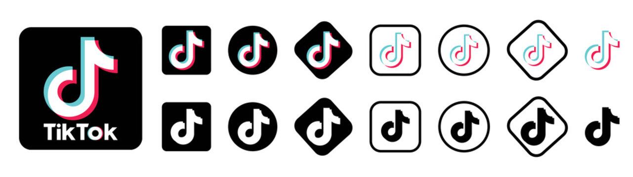 tiktok vector logo. tiktok vector icon. tiktok editorial