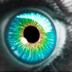 Artwork of human eye