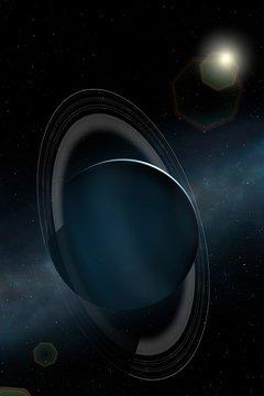 Artwork of Uranus