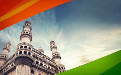 ncr, caa, national, republic day of india, indian, patriotic, tri colour, freedom, india flag, republic day india, independence day india, ancient, andhra, islamic, hyderabad charminar, travel, archit Fototapete