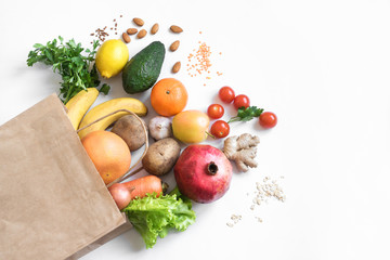 Autocollant pour porte Magasin alimentation Healthy food background