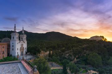 In de dag Oude gebouw Santuario de la Fuensanta, Murcia, Spain