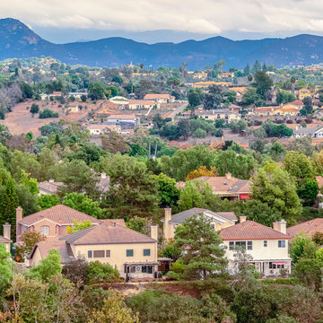 Square frame View of a housing estate in Southern California