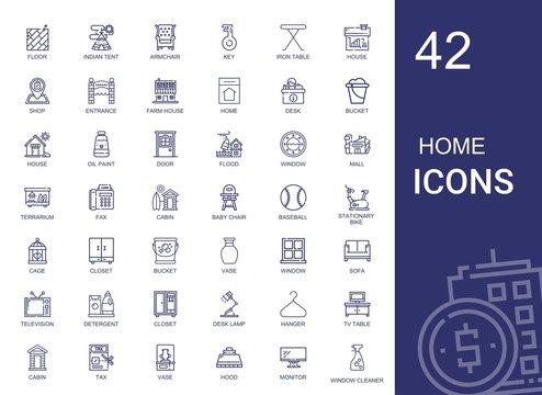 home icons set